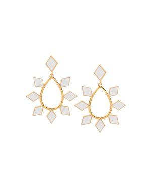 Charm & Chain Teardrop Earrings