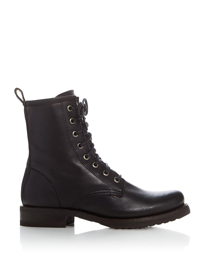 345ba82d963 Veronica Lace Up Combat Booties