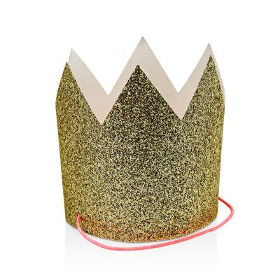 $Meri Meri Mini Gold Glittered Crowns - Bloomingdale's