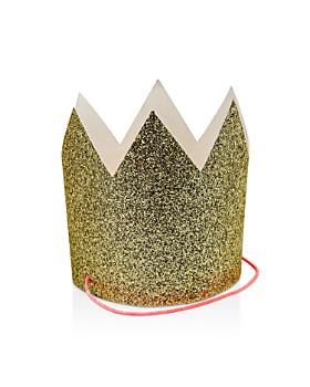Meri Meri - Mini Gold Glittered Crowns