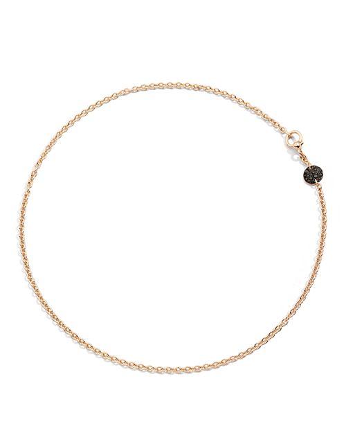 Pomellato - Sabbia Necklace with Black Diamonds in 18K Rose Gold