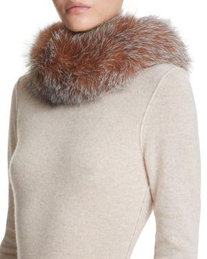 Surell Fox Fur Headband Scarf