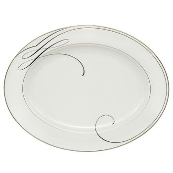 "Waterford - ""Ballet Ribbon"" Platter, Large"