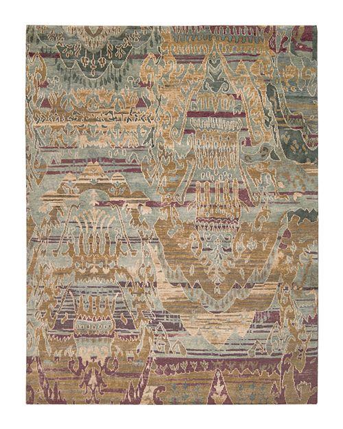"Nourison - Dune Rug - Oversized Ikat Pattern, 7'9"" x 9'9"""