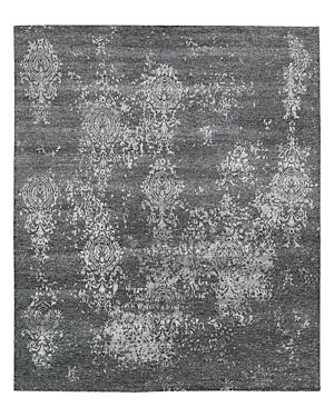 Nourison Silk Shadows Rug - Abstract Graphite, 5'6 x 7'5