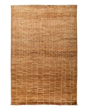 Solo Rugs Moroccan Area Rug - Brown Variegated Brick, 6' x 8'10