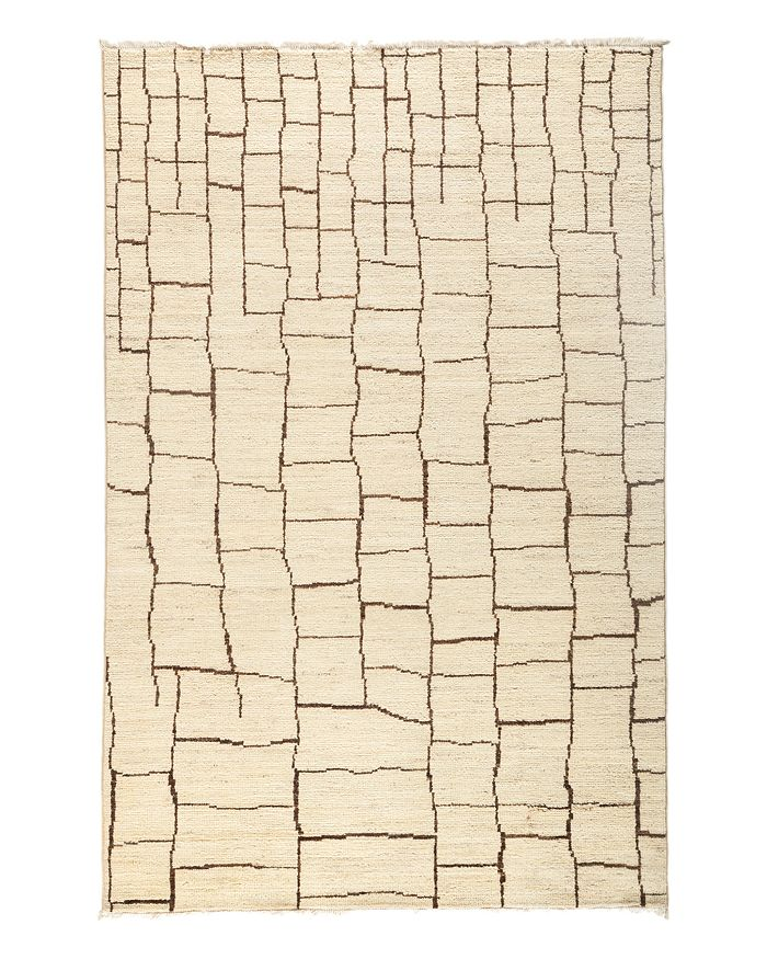 """Solo Rugs - Moroccan Area Rug - Beige Multi Brick, 5'1"""" x 7'8"""""""