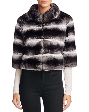 Maximilian Furs - Anna Chinchilla Cropped Jacket