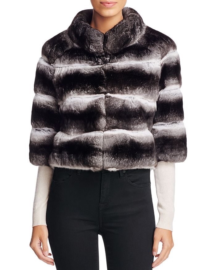Maximilian Furs - Anna Chinchilla Cropped Jacket