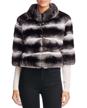 Maximilian Furs Anna Chinchilla Cropped Jacket