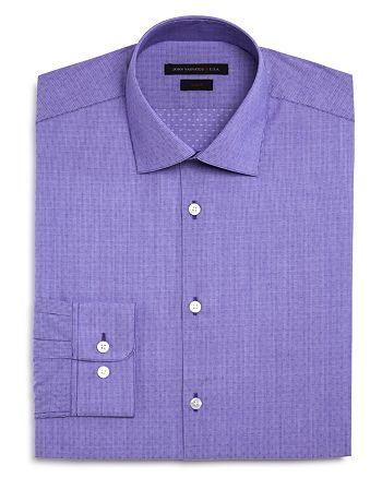John Varvatos Star USA - Thin Stripe Dobby Slim Fit Dress Shirt