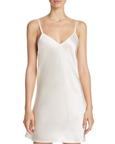 GINIA Strappy Silk Chemise - Bloomingdale's_0
