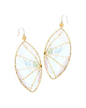 Lana Jewelry - 14K Yellow Gold Large Isabella Mother-of-Pearl Earrings