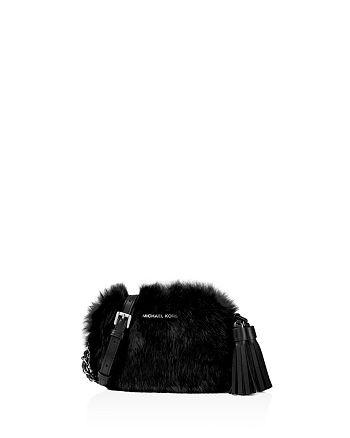 a111ba20b1a4 Handbags. > MICHAEL Michael Kors - Jet Set Travel Small Chain Shearling  Crossbody