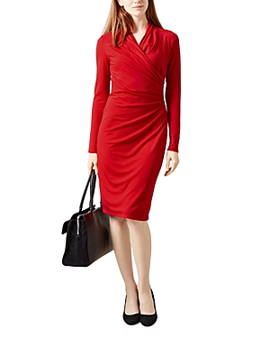 Hobbs London Laine Faux-Wrap Dress