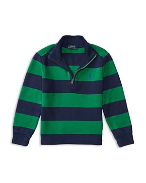 Ralph Lauren Childrenswear Boys' French Rib Half Zip Pullover - Sizes 4-7