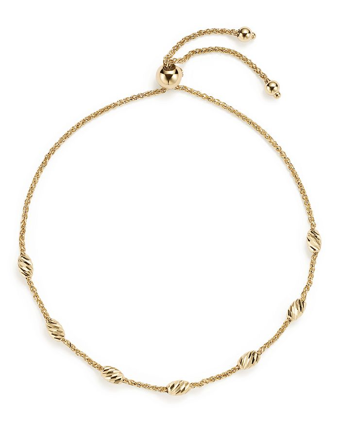 Bloomingdale's - 14K Yellow Gold Beaded Wheat Chain Bracelet  - 100% Exclusive