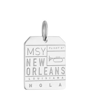 JET SET CANDY MSY NEW ORLEANS LUGGAGE TAG CHARM