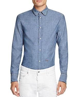 DSQUARED2 Chambray Slim Fit Button-Down Shirt