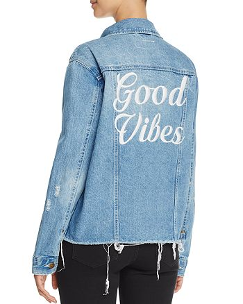 Pistola - Good Vibes Embroidered Oversize Denim Jacket - 100% Exclusive