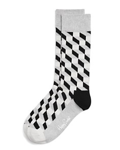 Happy Socks - Men's Filled Optic Cube Socks