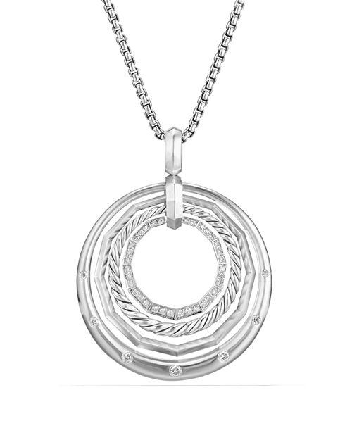 David Yurman - Stax Medium Pendant Necklace with Diamonds