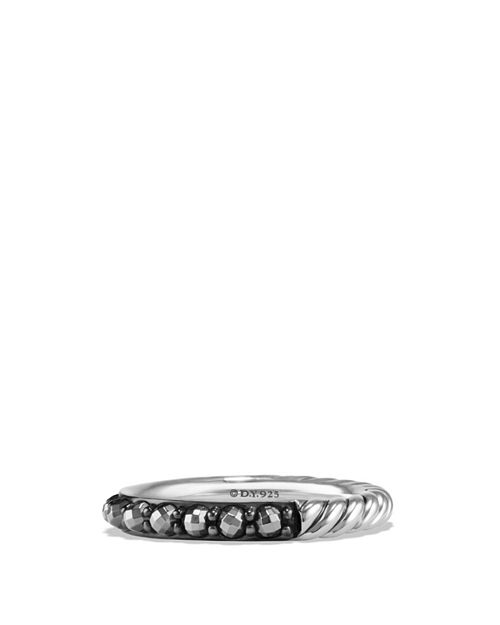 David Yurman - Cable Berries Band Ring with Hematine