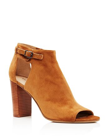 Via Spiga - Women's Giuliana High-Heel Peep Toe Booties