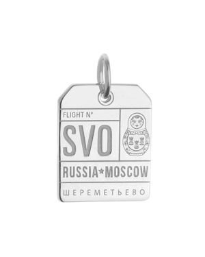 Jet Set Candy Moscow, Russia Svo Luggage Tag Charm