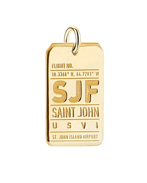 Jet Set Candy St. John Island, British Virgin Islands Sjf Luggage Tag Charm