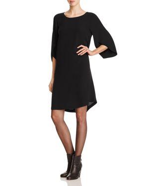 Eileen Fisher Silk Tulip Sleeve Dress