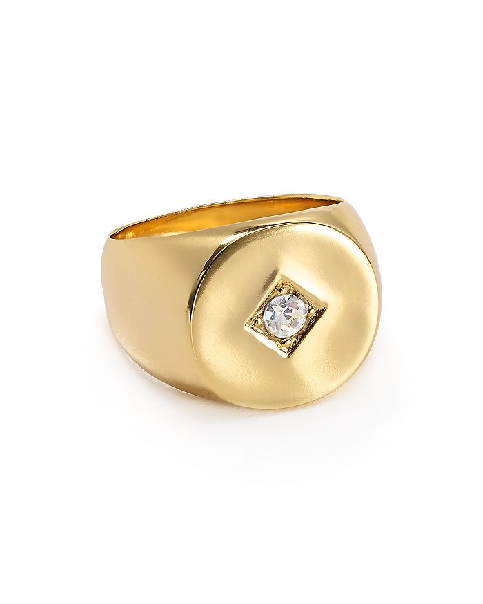 Jules Smith - Tulum Swarovski Crystal Signet Ring