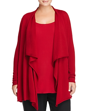 Eileen Fisher Plus Merino Wool Cascade Cardigan - 100% Exclusive