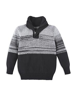 Andy & Evan Boys' Melange Quarter Zip Sweater - Little Kid, Big Kid