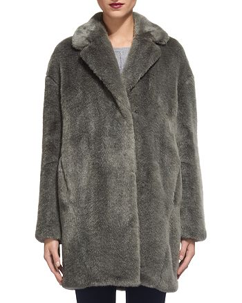9121527a6e Whistles Faux Fur Cocoon Coat | Bloomingdale's