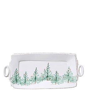 VIETRI - Lastra Holiday Handled Rectangular Platter