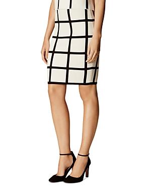 Karen Millen Check Pencil Skirt
