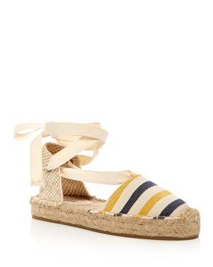 Soludos Striped Gladiator Platform Sandals 1817170