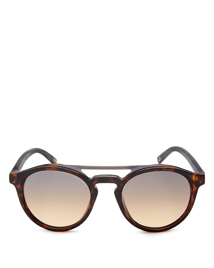 MARC JACOBS - Women's Mirrored Brow Bar Round Sunglasses, 51mm