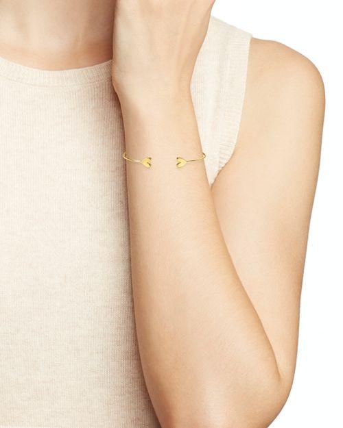 Argento Vivo Heart Cuff Bracelet
