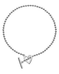 "Gucci Sterling Silver ""Toggle Heart"" Necklace, 16"" - Bloomingdale's_0"