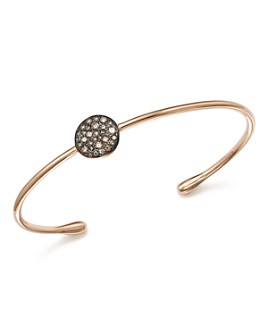 Pomellato - Sabbia Cuff Bracelet with Brown Diamonds in 18K Rose Gold