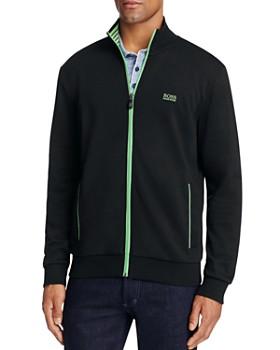 BOSS - Skaz Contrast Trim Zip Sweatshirt