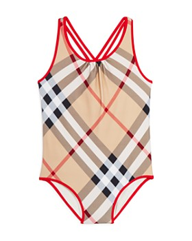 Burberry - Girls' Beadnell One-Piece Swimsuit - Little Kid, Big Kid