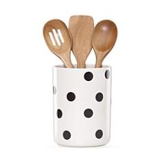 kate spade new york Utensil Crock with 3 Wooden Utensils - Bloomingdale's Registry_0