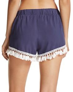 Surf Gypsy - Tassel Trim Swim Cover-Up Shorts