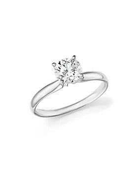 Bloomingdale's - Certified Diamond Round Brilliant Cut Solitaire Ring in 18K White Gold - 100% Exclusive