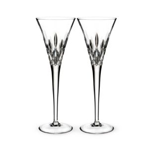 Waterford Lismore Pops Clear Toasting Flute, Set of 2