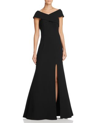 DYLAN GRAY OFF-THE-SHOULDER GOWN