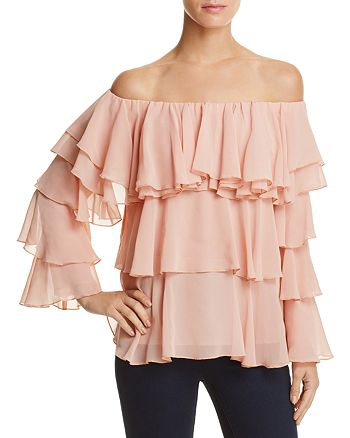 Endless Rose - Off-the-Shoulder Tiered Ruffle Top